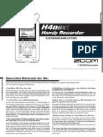 Zoom H4nSP Manual in German