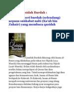 Sejarah Qasidah Burdah