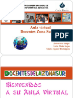 Bienvenida Aula Virtual Zona Sur