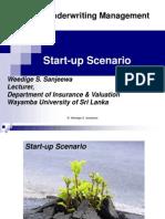 Start Up Scenario