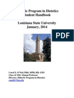Didactic Program in Dietetics Student Handbook REVISED 20140101s