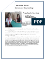 narrative report in counseling