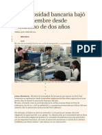 La Morosidad Bancaria Bajó en Setiembre Desde Máximo de Dos Años.doc_309