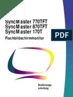 Samsung SyncMaster 770TFT, 870TFT & 170T