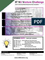 NU Venture Challenge Info Sheet
