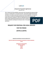 Sample RFP for Legal Services