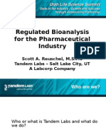 Scott Reuschel TANDEM LABS - Regulated Bioanlysis for the Pharmaceutical Industry
