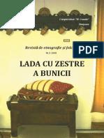 Lada Cu Zestre a Bunicii Revistǎ de Etnografie Şi Folclor, Nr. 3, 2008