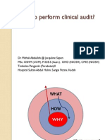 How to Perform Clinical Audit