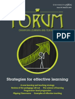 Strategies for effective learning