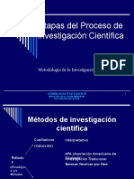 (3) Etapas Del Proceso de Investigacion Cientifica 2009