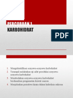 PERCOBAAN 1 BIOKIMIA KARBOHIDRAT