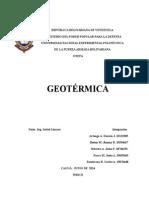 Trabajo de Generacon Geotermica Informe