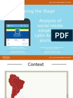 Sharing the Stage. Analysis of social media adoption by Latin American journalists