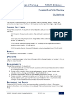 NR439 Research Article Guidelines