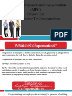 Issues Related to Compensation