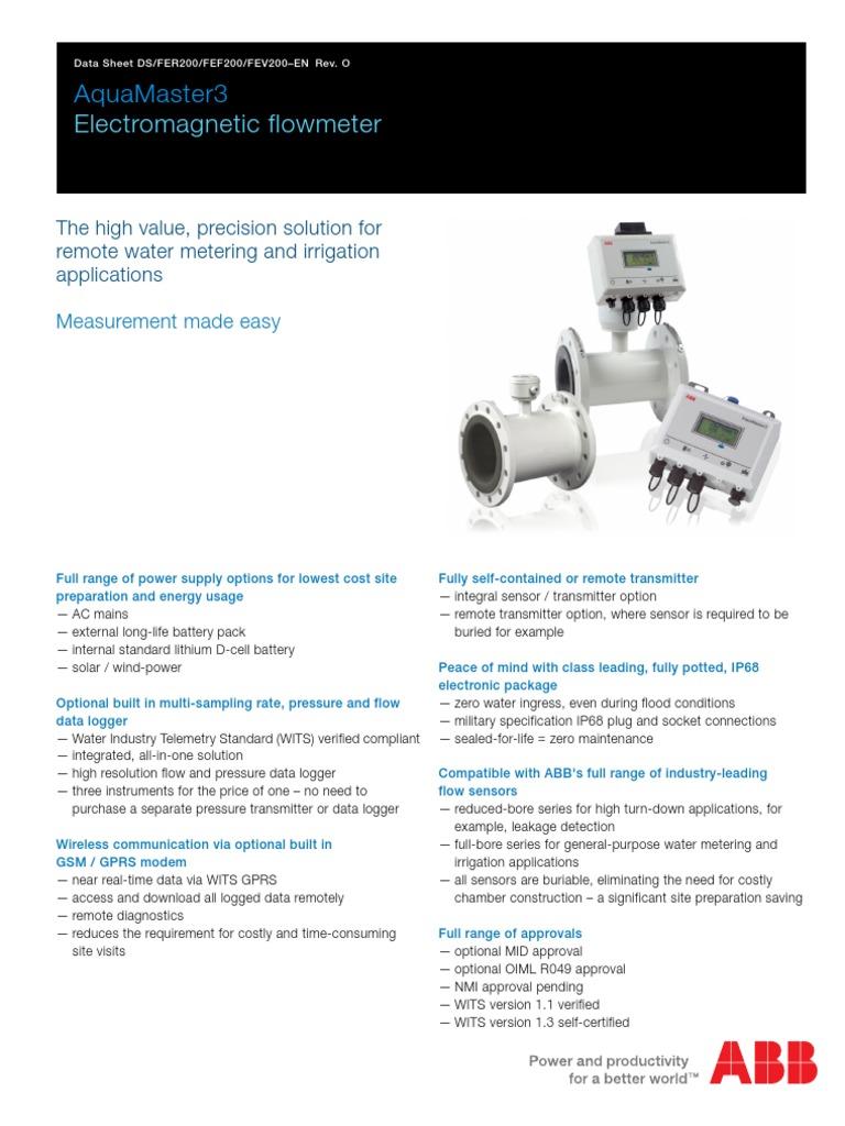 ABB MAG Flow DN400 Aqua Master Series | Flow Measurement ... Abb Magnetic Flow Meter Wiring Diagram on