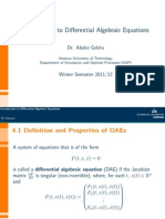Introduction to Differential Algebraic Equations
