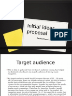 Initial Ideas Proposal