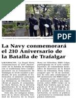 151015 La Verdad CG- La Navy Conmemorará El 210 Aniversario de La Batalla de Trafalgar p.8
