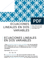 Tema Ecuaciones Lineales de Dos Variables MATH 102