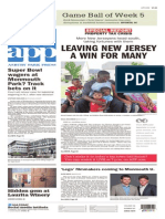 Asbury Park Press front page, Thursday, October 15, 2015