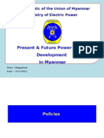 Power sector development in Myanmar