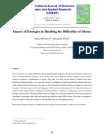Impact of Strategies in Handling the Dif