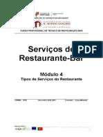 Tipos de Serviço Do Restaurante