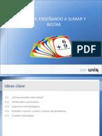 Ideas Tema4. Enseñando a sumar y restar.