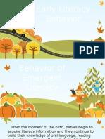 Behavior of Emergent Literacy
