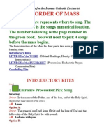 Mass Song Instructions
