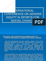 International Conference on Gender Equity in Sports For