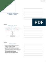 Algorithm Analysis Design Lecture1 PowerPoint Presentation