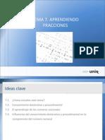 Ideas Tema7. Enseñando fracciones.