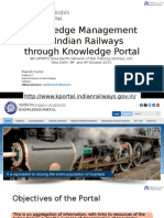 Knowledge Management on Indian Railways Through Knowledge Portal