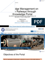 APNRTC UIC Knowledge Management on Indian Railways through Knowledge Portal