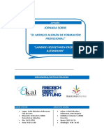Jornada EL MODELO ALEMÁN DE FORMACIÓN PROFESIONAL. LANBIDE HEZIKETAREN EREDUA ALEMANIAN