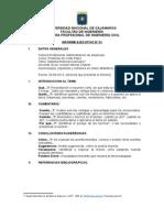 Informe Ejecutivo Modelo