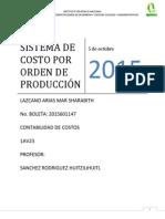 Sistema de Costo Por Orden de Producción