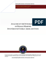 Marine Corps analysis of female integration