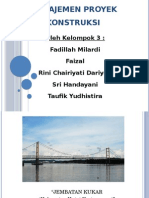 MANAJEMEN PROYEK KONSTRUKSI ( permasalahan jembatan Kukar)