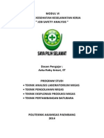 Modul 6 Praktek K3 ; Job Safety Analysis (JSA)