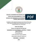 DISEÑO E IMPLEMENTACIÓN DE UN PROTOTIPO CON HMI PARA AUTOMATIZAR PROCESOS DE CULTIVO HIDROPÓNICO DE LECHUGA