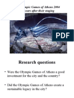 1 Ολυμπιακοί Αγώνες της Αθήνας 2004.Δέκα χρόνια μετά τη διεξαγωγή τους.ΡΙΟ. 13-17-2015.pptx