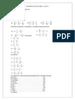 Matemática Frações Lista - 1