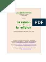 Brunschvicg Raison Et Religion