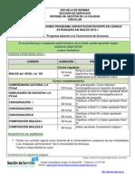 Circular Inscripciones Capacitación Docente Inglés 2016-1-1