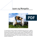 Tradisyon Ng Mongolia