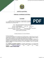 Certidão de Quitação Eleitoral — Tribunal Superior Eleitoral Willian